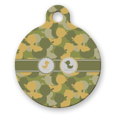 Rubber Duckie Camo Round Pet Tag (Personalized)