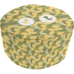 Rubber Duckie Camo Round Pouf Ottoman (Personalized)