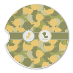 Rubber Duckie Camo Sandstone Car Coasters (Personalized)