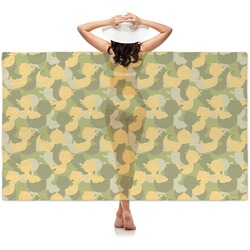 Rubber Duckie Camo Sheer Sarong (Personalized)