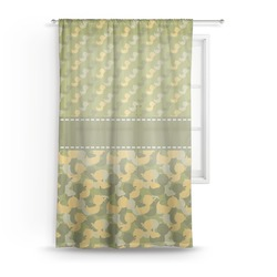 Rubber Duckie Camo Sheer Curtains (Personalized)