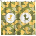 Rubber Duckie Camo Shower Curtain (Personalized)
