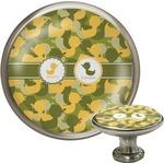 Rubber Duckie Camo Cabinet Knob (Silver) (Personalized)