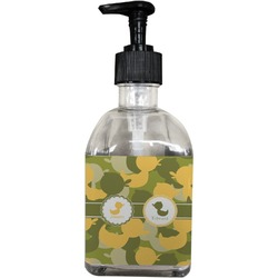 Rubber Duckie Camo Soap/Lotion Dispenser (Glass) (Personalized)