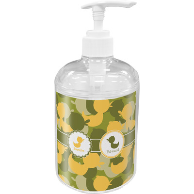 Rubber Duckie Camo Soap / Lotion Dispenser (Personalized)