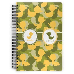 Rubber Duckie Camo Spiral Bound Notebook (Personalized)