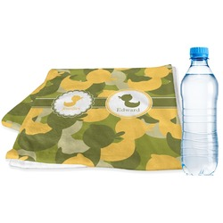 Rubber Duckie Camo Sports Towel (Personalized)