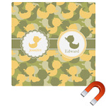 Rubber Duckie Camo Square Car Magnet (Personalized)