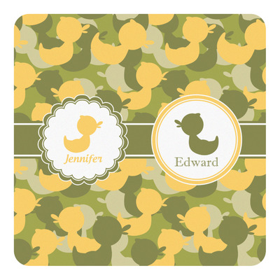 Rubber Duckie Camo Square Decal (Personalized)