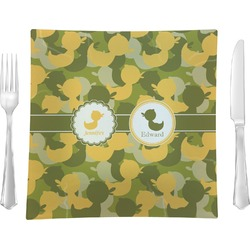 Rubber Duckie Camo Glass Square Lunch / Dinner Plate 9.5
