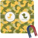Rubber Duckie Camo Square Fridge Magnet (Personalized)