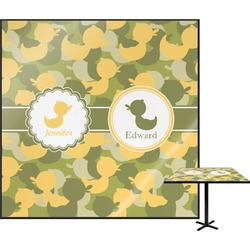 Rubber Duckie Camo Square Table Top (Personalized)