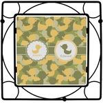 Rubber Duckie Camo Square Trivet (Personalized)