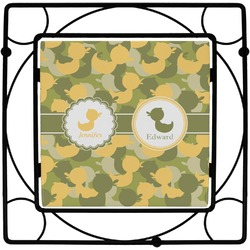 Rubber Duckie Camo Square Trivet (Personalized)