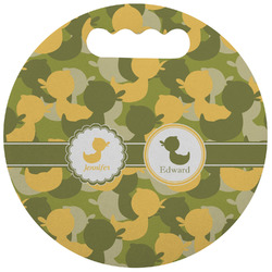 Rubber Duckie Camo Stadium Cushion (Round) (Personalized)