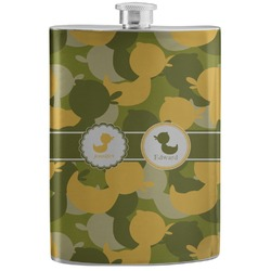 Rubber Duckie Camo Stainless Steel Flask (Personalized)