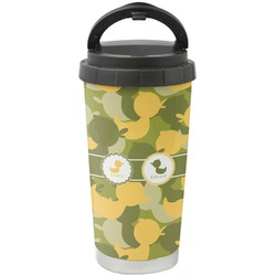 Rubber Duckie Camo Stainless Steel Coffee Tumbler (Personalized)