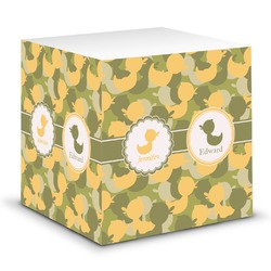 Rubber Duckie Camo Sticky Note Cube (Personalized)