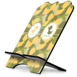 Rubber Duckie Camo Stylized Tablet Stand (Personalized)