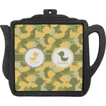 Rubber Duckie Camo Teapot Trivet (Personalized)