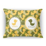Rubber Duckie Camo Rectangular Throw Pillow (Personalized)