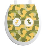 Rubber Duckie Camo Toilet Seat Decal (Personalized)