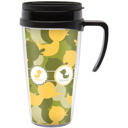 Rubber Duckie Camo Travel Mug with Handle (Personalized)