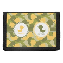 Rubber Duckie Camo Trifold Wallet (Personalized)