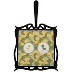 Rubber Duckie Camo Trivet with Handle (Personalized)