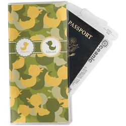 Rubber Duckie Camo Travel Document Holder