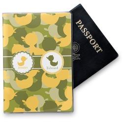 Rubber Duckie Camo Vinyl Passport Holder (Personalized)