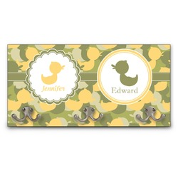 Rubber Duckie Camo Wall Mounted Coat Rack (Personalized)