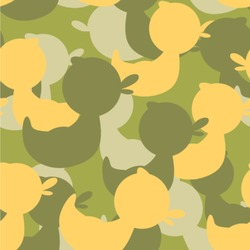 Rubber Duckie Camo Wallpaper & Surface Covering