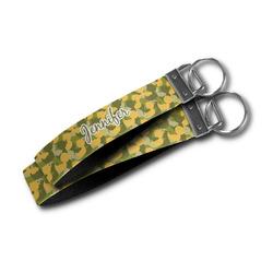 Rubber Duckie Camo Wristlet Webbing Keychain Fob (Personalized)