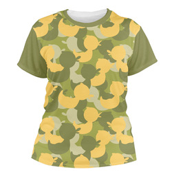 Rubber Duckie Camo Women's Crew T-Shirt (Personalized)