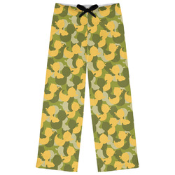 Rubber Duckie Camo Womens Pajama Pants (Personalized)