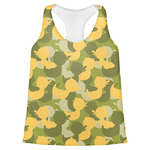 Rubber Duckie Camo Womens Racerback Tank Top (Personalized)
