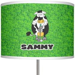 """Cow Golfer 13"""" Drum Lamp Shade (Personalized)"""