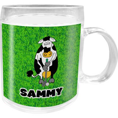 Cow Golfer Acrylic Kids Mug (Personalized)