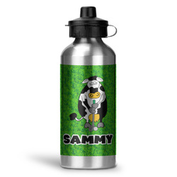 Cow Golfer Water Bottle - Aluminum - 20 oz (Personalized)