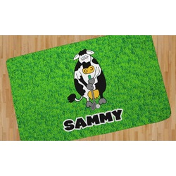 Cow Golfer Area Rug (Personalized)