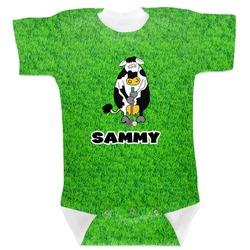 Cow Golfer Baby Bodysuit (Personalized)