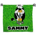 Cow Golfer Bath Towel (Personalized)