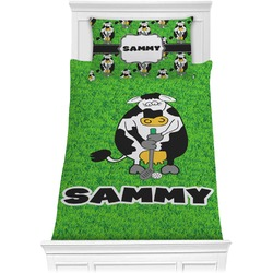 Cow Golfer Comforter Set - Twin (Personalized)