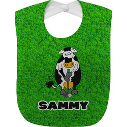 Cow Golfer Baby Bib (Personalized)
