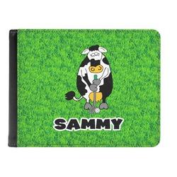 Cow Golfer Genuine Leather Men's Bi-fold Wallet (Personalized)