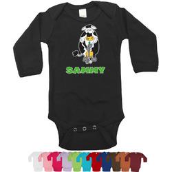 Cow Golfer Bodysuit - Black (Personalized)