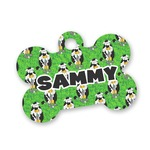 Cow Golfer Bone Shaped Dog Tag (Personalized)