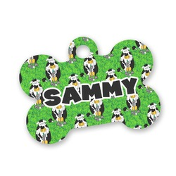 Cow Golfer Bone Shaped Dog Tag (Personalized)