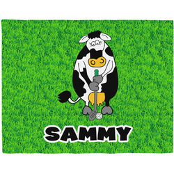 Cow Golfer Placemat (Fabric) (Personalized)